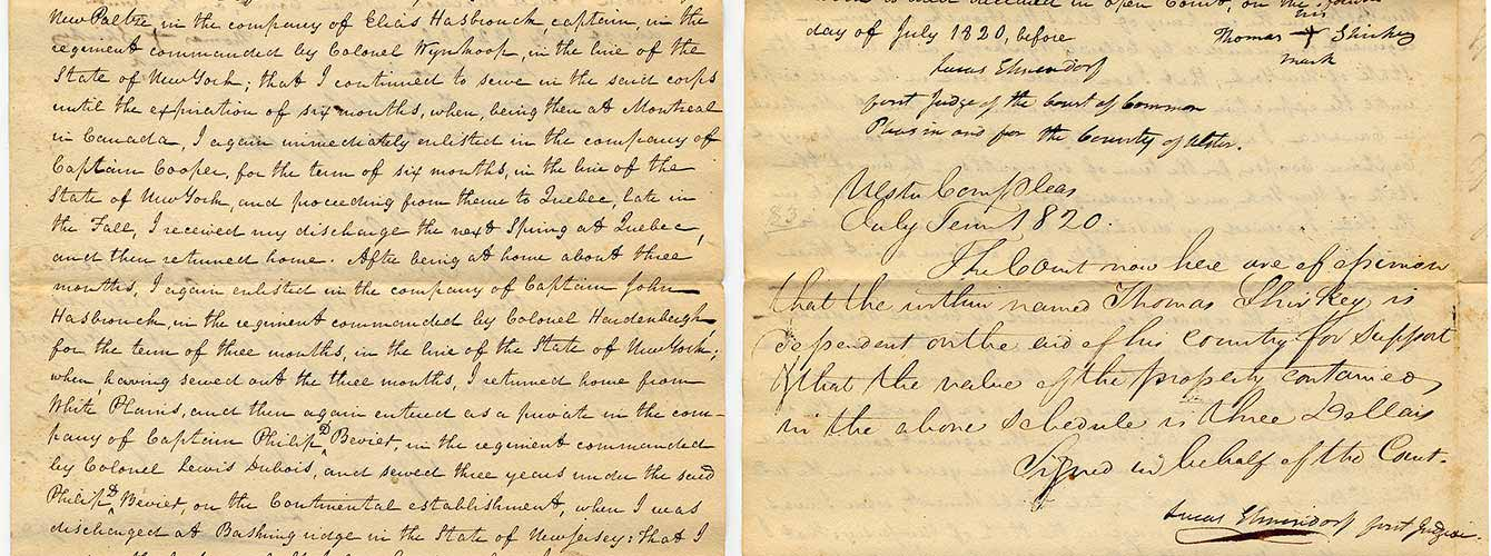 Revolutionary War Service Affidavits